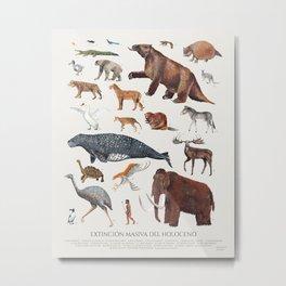 Extinción masiva del Holoceno Metal Print