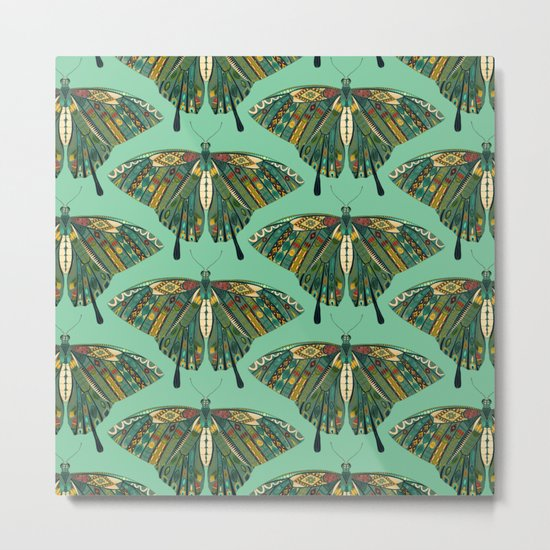 swallowtail butterfly emerald Metal Print