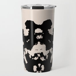 Black Rorschach inkblot Travel Mug