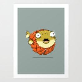 Puffer fish Art Print