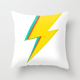 Lightning bolt (yellow Version) Throw Pillow