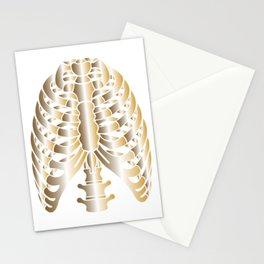 Rib Cage Skeleton Anatomy Stationery Cards