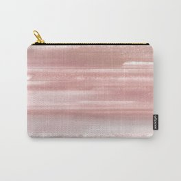 Geode Crystal Rose Gold Pink Carry-All Pouch