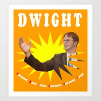 dwight schrute Art Prints featuring Dwight Schrute  |  The Office by Silvio Ledbetter