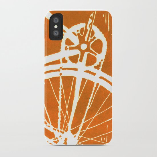 Orange Bike iPhone Case
