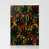 rasta Stationery Cards featuring Rasta Leaves... by Cherie DeBevoise