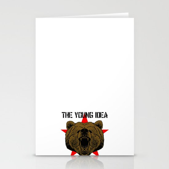 The Young Idea - Grizzly Logo Stationery Cards