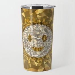 POLYNOID Smiley / Gold Edition Travel Mug
