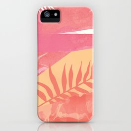 Pink Marble Palm iPhone Case