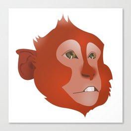 Red Monkey Canvas Print