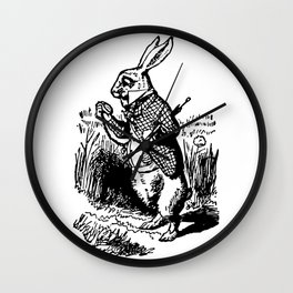 White Rabbit Alice in Wonderland Wall Clock