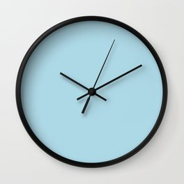 Light Blue - solid color Wall Clock
