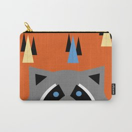 Orange Racoon Carry-All Pouch
