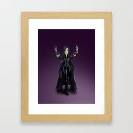Selene, Vampire Death Dealer Framed Art Print