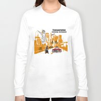 technology Long Sleeve T-shirts featuring  Transportation  technology by Design4u Studio