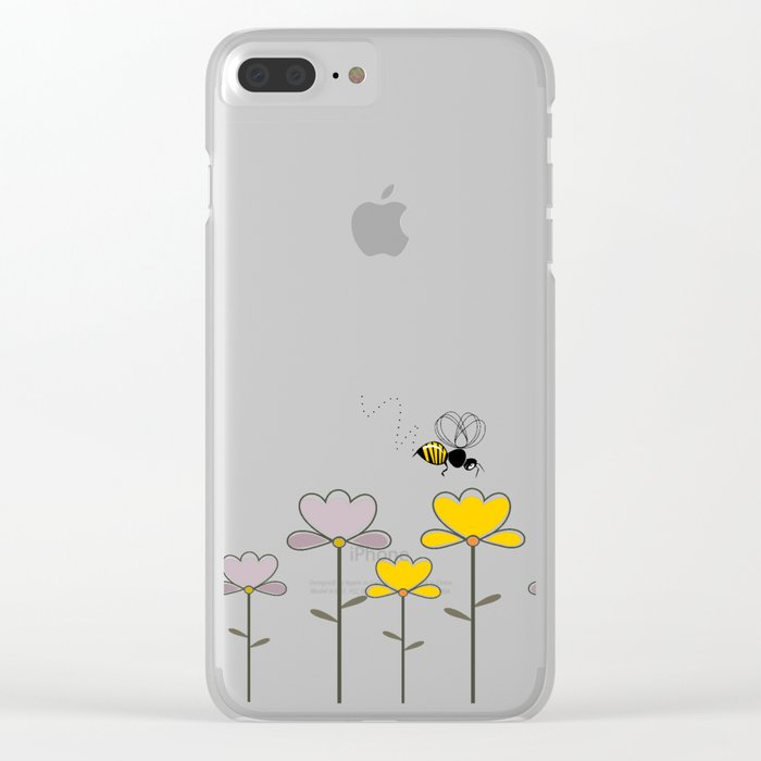 """Let it """"bee"""" Clear iPhone Case"""