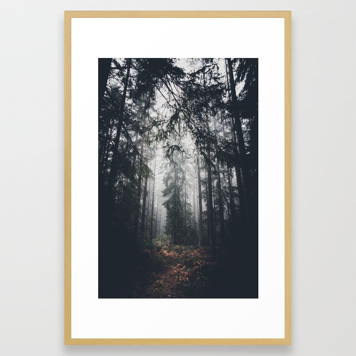 Dark paths Framed Art Print