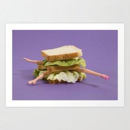 Ultraviolet Sandwich Doll Art Print