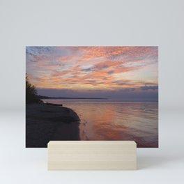 Serenity sunset Mini Art Print