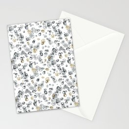 Arabidopsis isolated cells grey-gold on white Stationery Cards