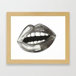 Derp Smile Framed Art Print