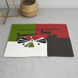 The African Maasai with a Shield. Rug
