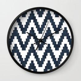 Twine in Navy Blue Wall Clock