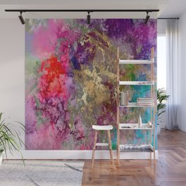 Galaxy, abstract, fire+ice gold accent Wall Mural