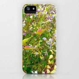 Vibrant Yellow-Green Meadow iPhone Case