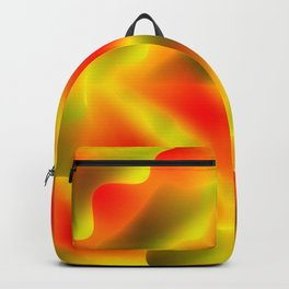 Bright pattern of blurry red and green flowers in a dark kaleidoscope. Backpack