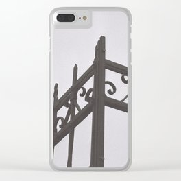 on the fence Clear iPhone Case