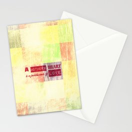 A mother's heart is a patchwork of love Stationery Cards