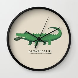 croc cannibalism Wall Clock