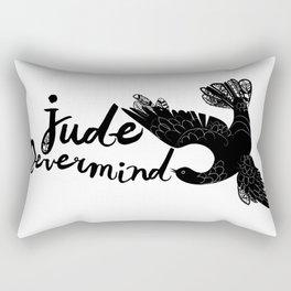 Jude Nevermind logo Rectangular Pillow