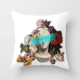 Blue feelings Throw Pillow