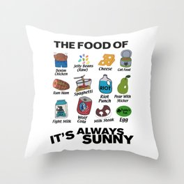 It's Always Sunny Food Throw Pillow