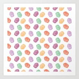 sweet candies cakes pattern Art Print