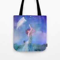 dreamcatcher Tote Bags featuring Dreamcatcher by Aimee Stewart