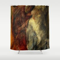 poetry Shower Curtains featuring poetry studies by Imagery by dianna