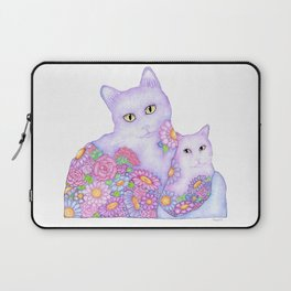 Bart and Clay - A Portrait of Two Cats  Laptop Sleeve