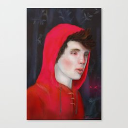 A Red Night Canvas Print