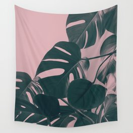 Romantic Monstera Wall Tapestry
