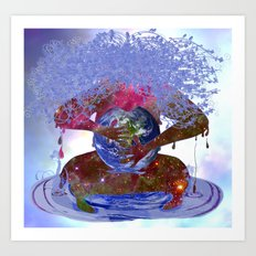 Mother Earth is Melting Art Print