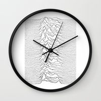 joy division Wall Clocks featuring Joy Division  by Thug