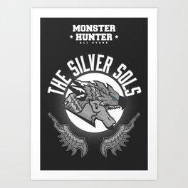 Monster Hunter All Stars - The Silver Sols Art Print