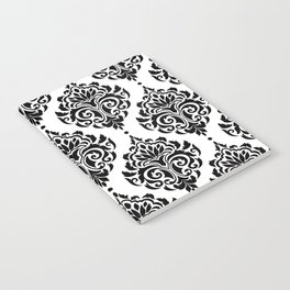 Black and White Damask Notebook