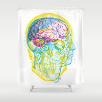 anatomy Shower Curtains featuring Anatomy Skull by Gary Grayson
