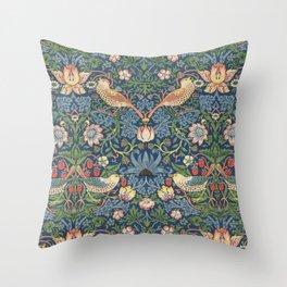 Strawberry Thief - Vintage William Morris Bird Pattern Throw Pillow