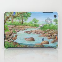river iPad Cases featuring  river  by Amy Fan