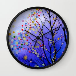 sparkling winter night sky Wall Clock